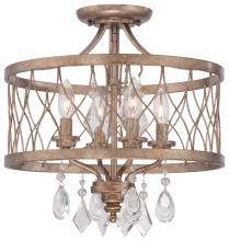 Minka-Lavery 4403-581 - 4 Light Mini Chandelier (Convertible To Semi Flush)