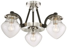 Minka-Lavery 4574-583 - 3 Light Semi Flush (Convertible)