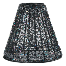 "Crystorama 3SH - Crystorama 6"" Black Beaded Shade on Lace"