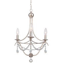 Crystorama 413-SA-CL-SAQ - Crystorama 3 Light Antique Silver Mini Chandelier