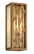 Troy B3161 - One Light Painted Bronze Leaf Outdoor Wall Light