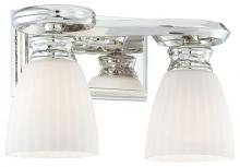 Minka Metropolitan n2802-613 - Etched White Glass Polished Nickel Vanity