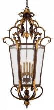 Minka Metropolitan n3639-355 - Golden Bronze Seeded Glass Framed Glass Foyer Hall Fixture