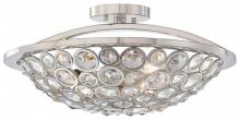 Minka Metropolitan N6750-613 - Polished Nickel Clear Crystal Accents Glass Bowl Semi-Flush Mount