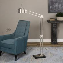 Uttermost 28644-1 - Uttermost Amado Brushed Nickel Floor Lamp