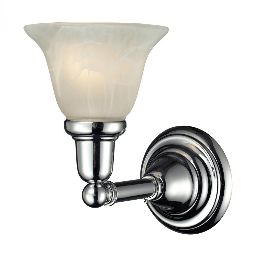 One Light Chrome Bathroom Sconce G0lj