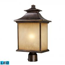 ELK Lighting 42184/1-LED - San Gabriel 1 Light Outdoor LED Post Lamp In Haz