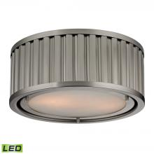 ELK Lighting 46110/2-LED - Linden Manor 2 Light LED Flushmount In Brushed N