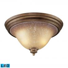 ELK Lighting 9319/2-LED - Lawrenceville 2 Light LED Flushmount In Mocha An
